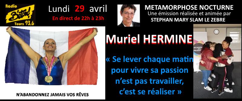 "Muriel Hermine dans ""Métamorphose nocturne"""