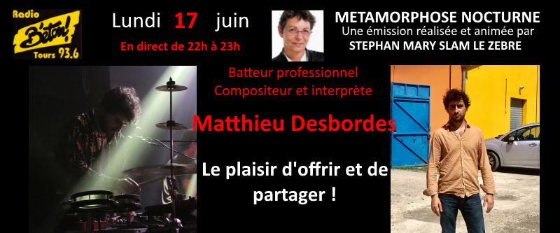 Matthieu Desbordes dans Métamorphose nocturne