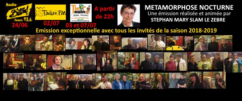 """Tous les invité.e.s de la saison 2018-2019 dans """"Métamorphose nocturne"""""""