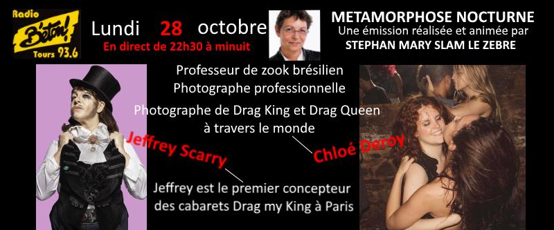 Chloé Deroy et Jeffrey Scary dans Métamorphose nocturne