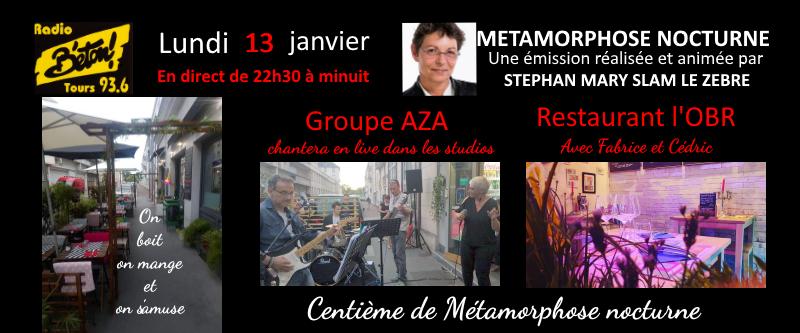 AZA et L'OBR pour la centième de Métamorphose nocturne