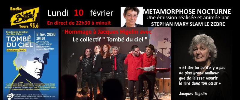 """""""Tombé du ciel"""" en hommage à Jacques Higelin dans Métamorphose nocturne"""""""
